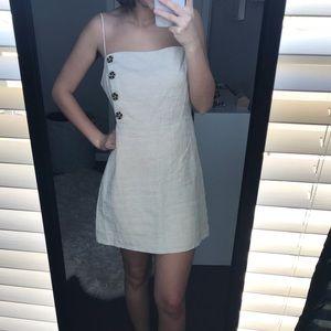 NWT Urban Outfitters Cream Linen Mini Dress